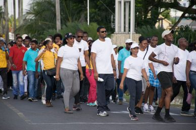 Scenes from the Ministry of Agriculture's Fitness Walk