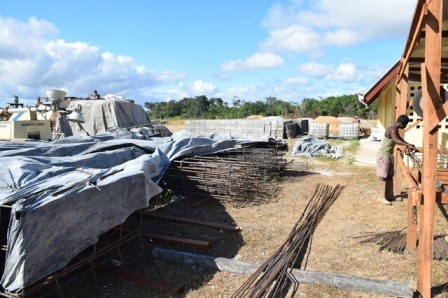 Some of the materials on site of the Hinterland Green Enterprise Development Centre.
