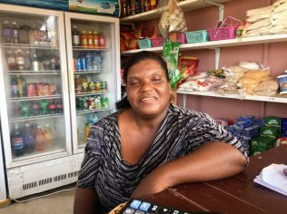 Maylene Austin, one of the first vendors to operate a stall at the 24-hour market