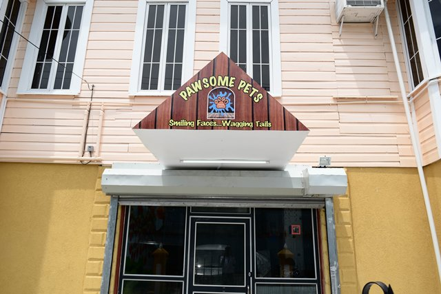 Pawsome Pets' store located on Brickdam and Austin Place.