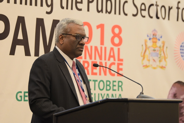 Recently elected CAPAM board member and Secretary of the Department of Administration Reform and Public Grievances in India, K.V Epping.