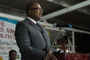 Salvation Army Men's Social Center, Divisional Commander of TSA Guyana Division Major Matignol St-Lot.