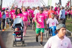 Scenes from the Pinktober Breast Cancer walk