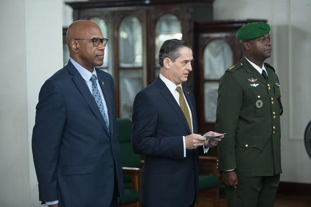 Chile's Ambassador to Guyana, Patricio Arturo Becker Marshall.
