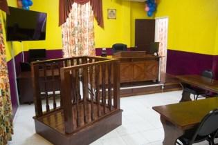 Inside of the Children's Court.
