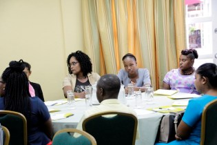 Teachers and Welfare Officers gathered at the consultation exercise today.
