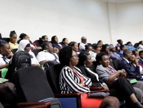 A section of the gathering at today's symposium.