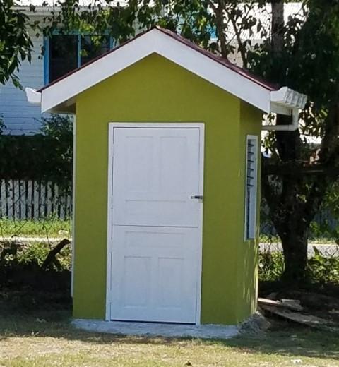 New guard hut at the school.