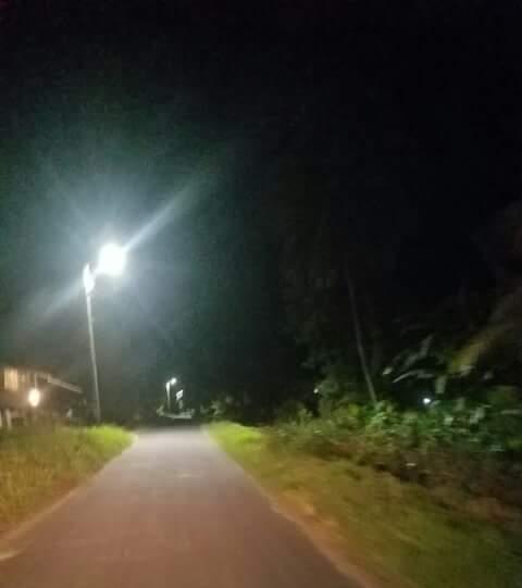 Wakenaam Street lights.