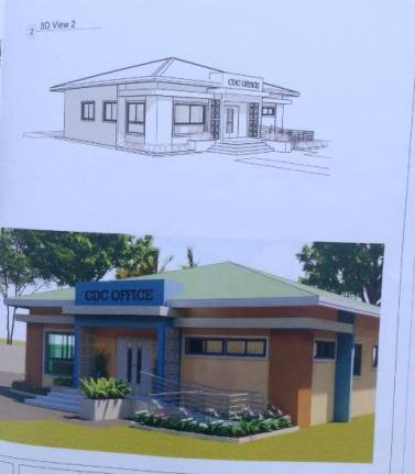 An architectural design of the Linden CDC building.
