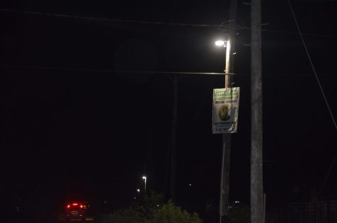 One of the LED lights installed at Patrick Dam Angoy's Avenue