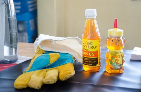 Some of the locally manufactured honey-based products on display