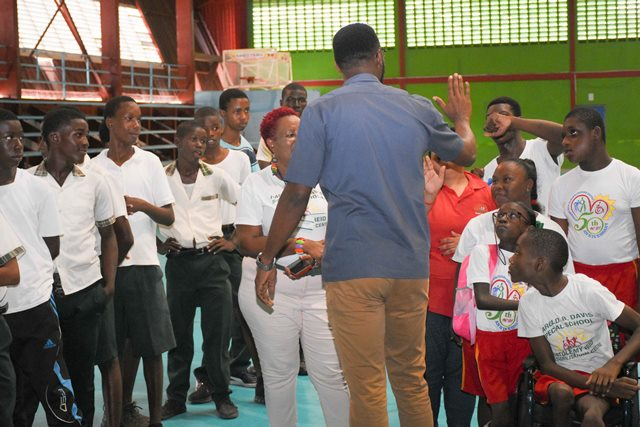 Director of Sport, Christopher Jones interacting with the students.
