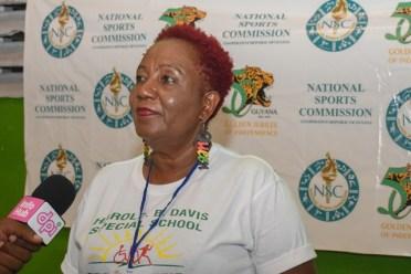 Teacher of the Harold B. Davis Special School, Joan Butcher.