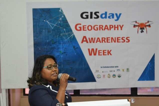 CH&PA, GIS analyst Malini Jaikarran making her presentation.