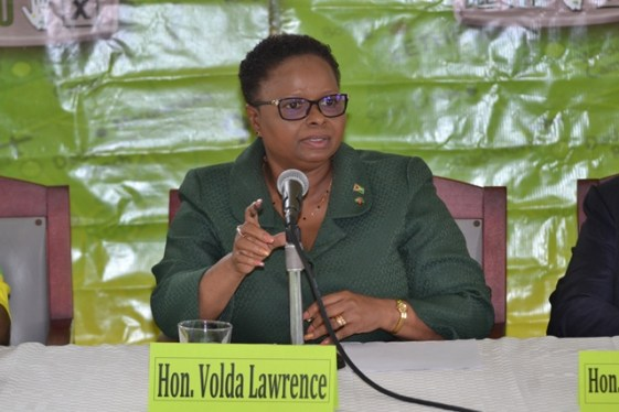 PNCR Chairperson and Minister of Public Health, Volda Lawrence.