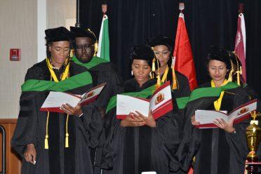 The graduate doctors reciting the Hippocratic Oath