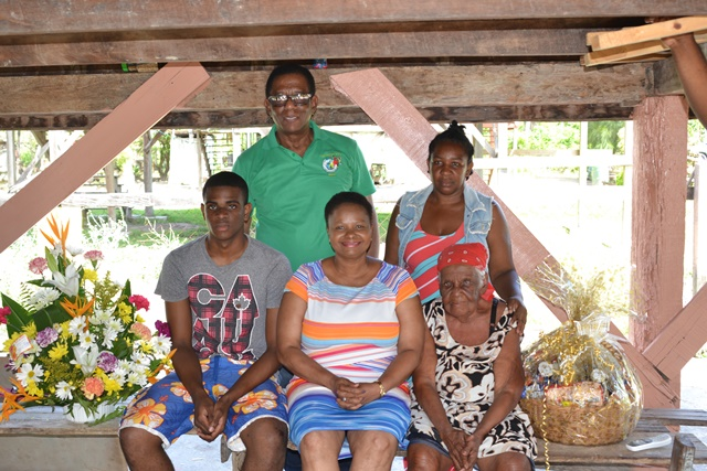 Cousin Ruby, Minister of Public Health, Volda Lawrence and some of cousin Ruby's family members.