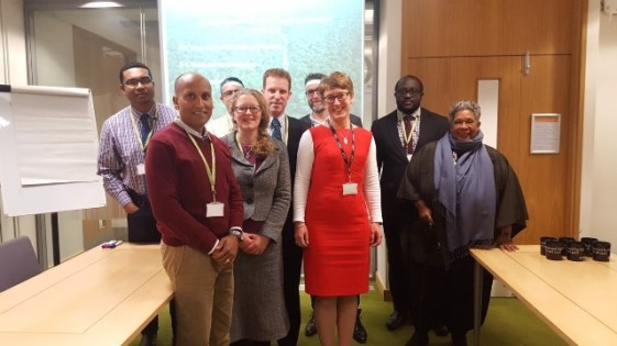 Guyana Delegation among representatives of the UK Environment Agency and Department for Environment, Food & Rural Affairs.