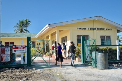 Residents on their way to cast their votes at Somerset and Burks Nursery School