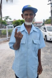 82-year-old Abdul Sattur after casting his ballot.