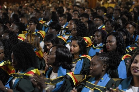 The University of Guyana 52nd convocation ceremony was done in three batches on Saturday.