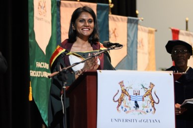 Valedictorian and recipient of the President's Medal Shakti Persaud.