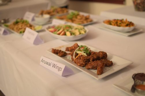 A sample of the delicious meals available at Aruwai White H2O Water Resort
