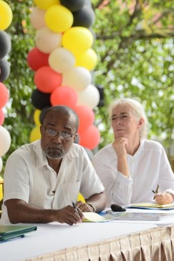 The facilitators Leon Charles and Sian Williams.