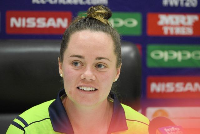 Captain of the Ireland team, Laura Delany.