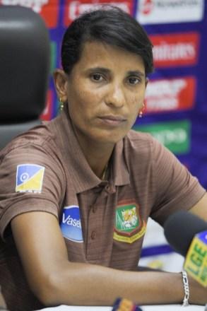 Captain of the Bangladesh team, Rumana Ahmed.