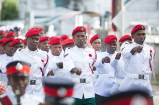 Some members of the military at the Military Parade.