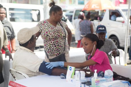 Scenes from the health fair
