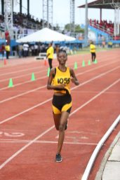 Sheama Tyrell of District 10 finished first in the Girls 10k race