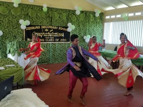 Students performing a cultural piece