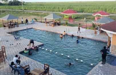 Spacious swimming pool at the resort