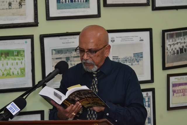 Professor Clem Seecharan reads an excerpt from his book.