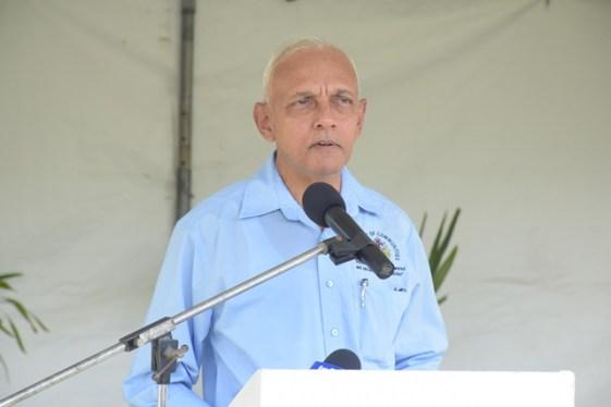 Minister of Communities, Ronald Bulkan addressing the Region 2 NDC representatives.