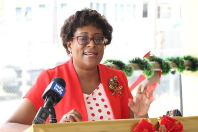 Minister of Public Telecommunications, Catherine Hughes.