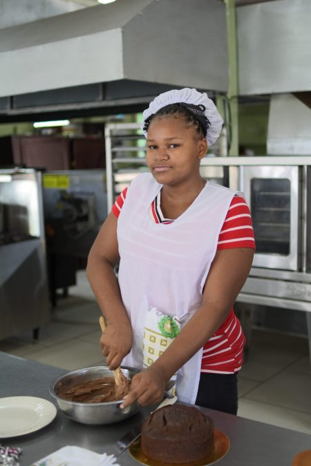 Linda Harris, beneficiary of the school reintegration initiative for teenage mothers programme