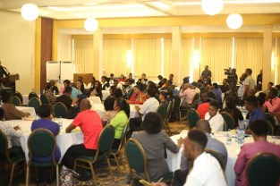 Hundreds of youths gathered for the Youth Business Summit back in May.
