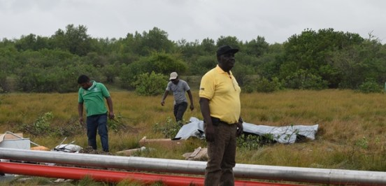 CEO of Hinterland Electricity Company Incorporated (HECI), Horace Williams on-site at Onverwagt.