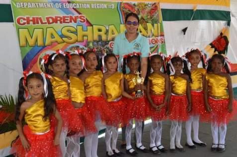 Scenes during the Regional Children's Mashramani competition.