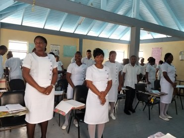 Nursing students undertaking their nine-month training.