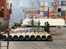 ExxonMobil Liza Phase 1 – Saipem Pipe offload – Department