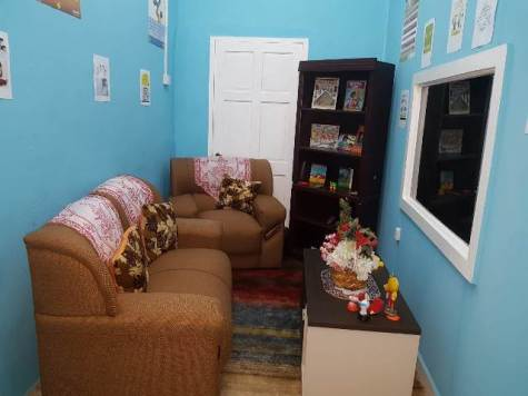A child friendly room at the Child advocacy Centre.