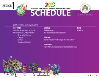 Childrens Mash Schedule.