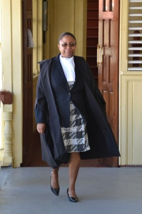 Chief Justice (ag) Roxanne George.
