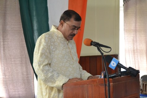 President of Viraat Sabha Guyana and Commissioner of Integrity Commission, Pandit Rabindranauth Persaud.