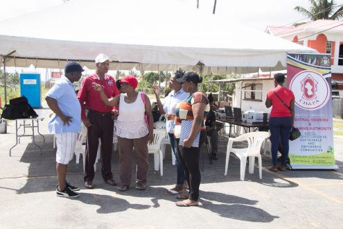 Residents of 'C' Field Sophia gathered at the Launch of the Housing Project